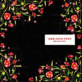 Black poppy color background banner — ストックベクタ