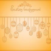 Easter egg engraving background — Stock Vector