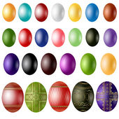 Easter egg color sample — Stock Vector
