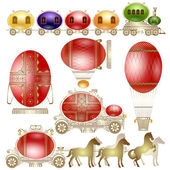Easter egg luxury transport — Stock Vector