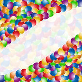 Banner color ball rainbow background — Stock Vector