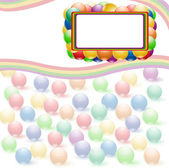 Ball rainbow background — Stock Vector