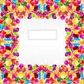 Candy farbe regenbogen glänzend kreis hintergrund — Stockvektor
