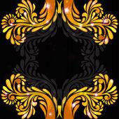 Black background orange banner pattern — Stock Vector
