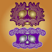 Heraldic elephant symbol — Stok Vektör