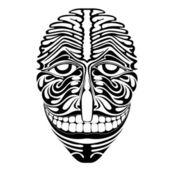 Spirit demon joker face silhouette — Stock Vector