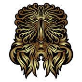 森林精神口罩 — 图库矢量图片