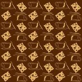 Чай кофе время фон Кубок сыр — Cтоковый вектор