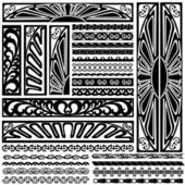Old church pattern frame silhouette — Stock vektor
