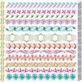 Art nouveau pattern flower element — Stock Vector