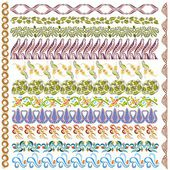 Art nouveau pattern edge element — Vector de stock