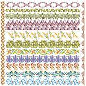 Art nouveau pattern edge element — Stock Vector