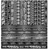 Borde de estilo art nouveau — Vector de stock