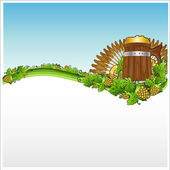 Discotecas cerveza fondo bandera salto grano — Vector de stock