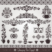 Folk ukrainian element vintage pattern — Stockvektor