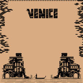 Venice vintage background — Stockvektor
