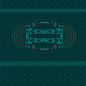 Blue green vintage luxury background — Vector de stock