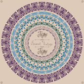 Pattern vintage circle frame — Stockvektor