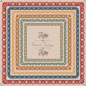 Pattern vintage square frame vintage — 图库矢量图片