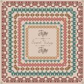 Pattern vintage square frame — Stok Vektör