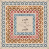 Pattern old cross vintage square frame — Vecteur