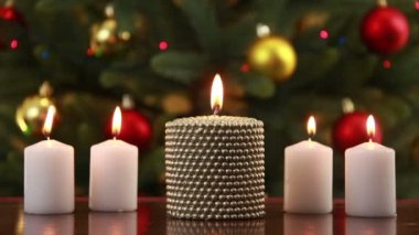 Christams set of candles — Stock Video