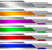 Banner Metalic Multicolor — Stock Photo