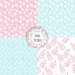Set of seamless floral patterns — Stock Vector #35997379