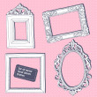 Set of vector hand drawn vintage frames — Stock Vector #35997507