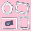 Set of vector hand drawn vintage frames — Stock Vector