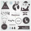Christmas hipster decoration collection of labels, symbols and icons elements — Stock Vector