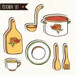 Kitchen set — Stock Vector
