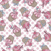 Cupcakes - seamless pattern — Vetorial Stock