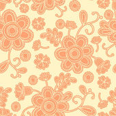 Seamless hand-drawn floral pattern. — Stock Vector