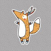 Funny animals: American Indian Fox — 图库矢量图片