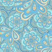 Naadloze abstracte handgetekende floral patroon. — Stockvector