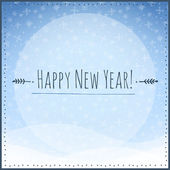 Happy New Year card with snowflakes. Vector illustration. — Stock Vector