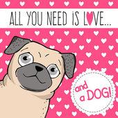 Vše co potřebujete je láska. — Stock vektor