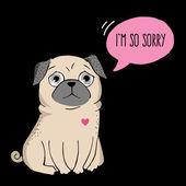 I'm so sorry. — Stock Vector