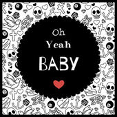 Oh yeah Baby vintage poster — Stock Vector