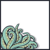 Pattern with octopus tentacles. — Stock Vector