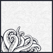 Pattern with octopus tentacles. — Stockvector