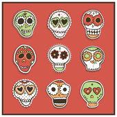 Бесшовный фон с мексиканской черепа — Cтоковый вектор