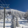 Ski lift at Lake Tahoe Skiing Resort — Stock Photo