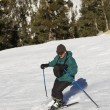 Stock Photo: Mskiing at Lake Tahoe Resort