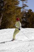 Young girl skiing — Stock Photo