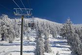 Ski lift at Lake Tahoe Skiing Resort — Stock Photo