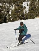 Man skiing at Lake Tahoe Resort — Stock Photo