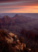 Bright Angel Viewpoint Sunset - Grand Canyon. — Stock Photo