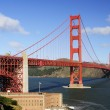 Golden Gate Bridge and Fort Point in the morning — Stock Photo